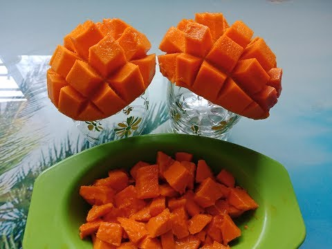How to cut a Mango into beautiful cubes /Mango cube cutting skill /mango katne ka tarika/mango dice