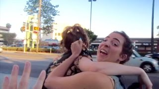 GABBIE THREW ERIN INTO TRAFFIC AND WE DIED ft. The Gabbie Show   Carly and Erin Vlogs