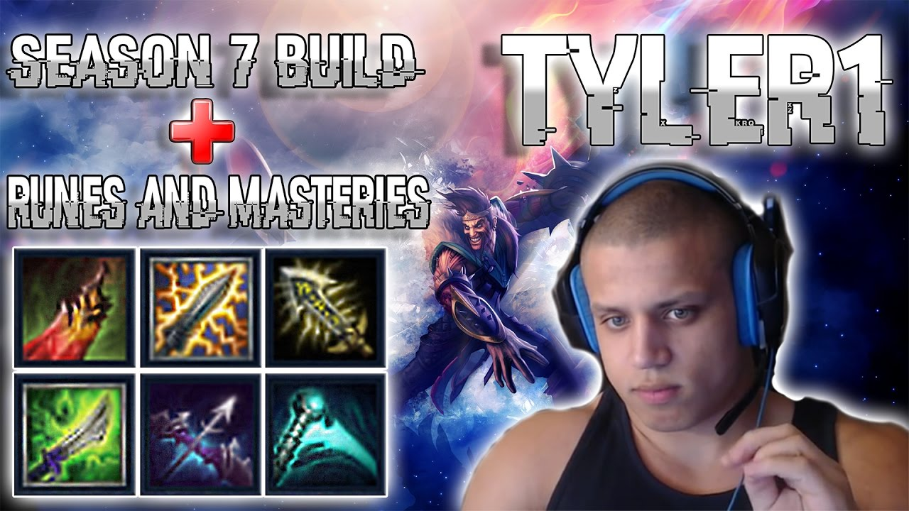 New Tyler 1 Build Runes And Masteries Best Draven Build 7 9 Mid Season 7 Youtube