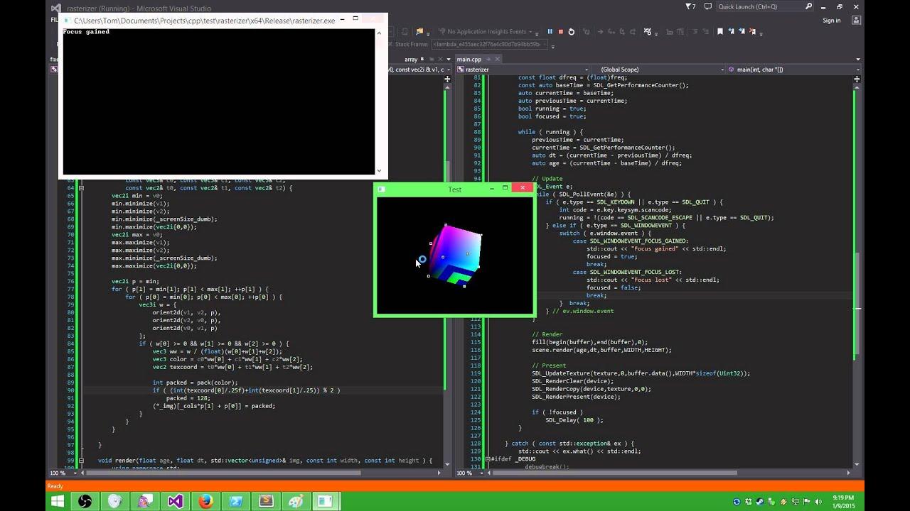 C++/SDL2] Software Rasterizer - YouTube