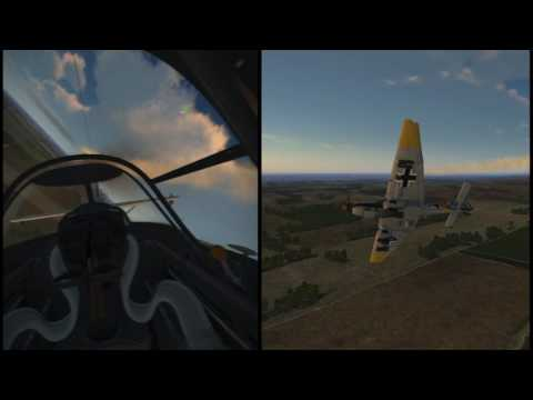 IL2 BoS VR - JU 87 _ Quick Mission - Gunner Position VR test