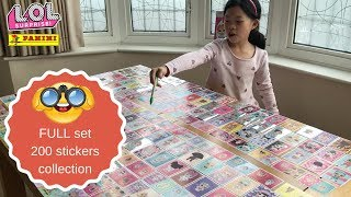 100% completed (full set) collection of LOL Surprise sticker album 2018