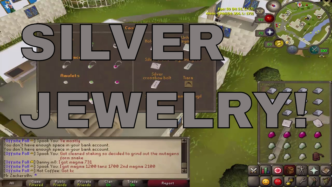 [OSRS] SILVER JEWELRY IS HERE! [UPDATE]