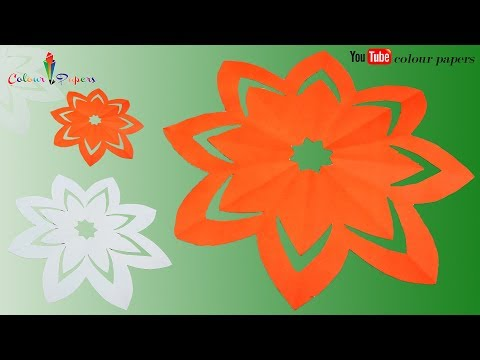 How to make simple & easy paper cutting flower designs/ DIY Tutorial by step by step.