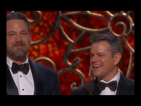 Matt Damon Played Off Stage by Jimmy Kimmel | Oscars 2017