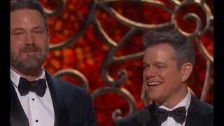 matt damon played off stage by jimmy kimmel oscars 2017
