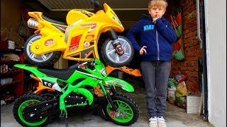 Funny Video Children Baby Ride on New Dirt Cross Bike Power Wheel Pocket Bike Magic Hide and Seek