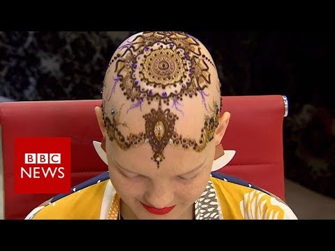 Henna crowns: 'Hair' for cancer patient – BBC News