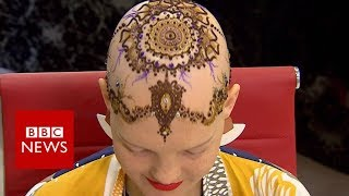 Henna crowns: 'Hair' for cancer patient - BBC News