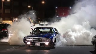 Muscle Cars and Customs Leaving a Car Meet - May 2019!