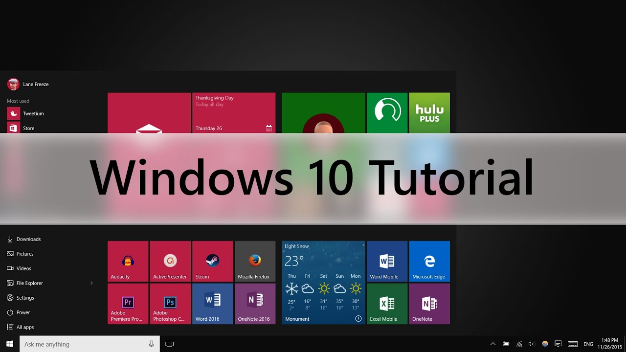 Windows 10 Tutorial Beginners Guide Youtube