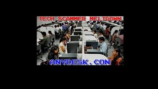 Tech Cold Call Meltdown. Scammer Loses It. Anydesk dot Con.