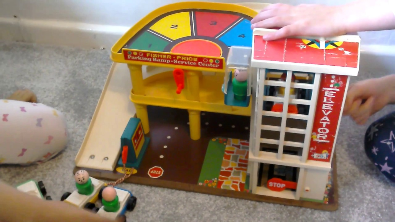 We Play with an Old Fisher Price Car Park Garage Toy