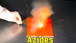 Azides sodium azide NaN3 and lead azide Pb(N3)2