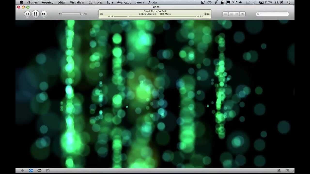 Fizz - iTunes Visualizer demonstration