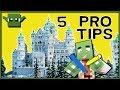 MINECRAFT MASTER BUILDER - 5 GOLDEN TIPS!!!!