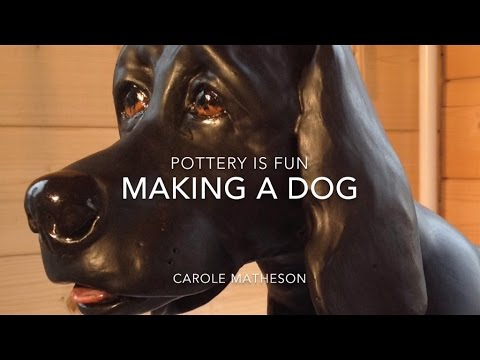 How to Make a Dog - Making Animals Out Of Clay - Pottery is Fun!