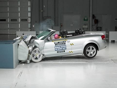 2007 Audi A4 Cabriolet Moderate Overlap Iihs Crash Test Youtube