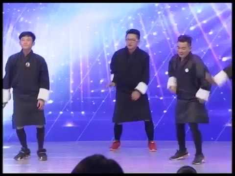 Seyang with group || The Voice of Bhutan