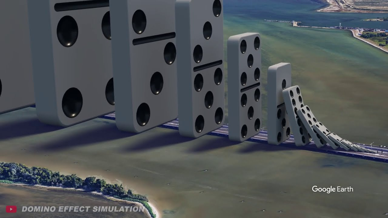 Domino Effect - The largest domino simulation on Real Footage V5