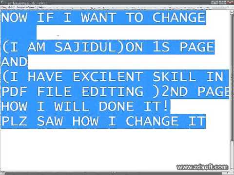 HOW TO MAKE AND  EDIT  A PDF FILE