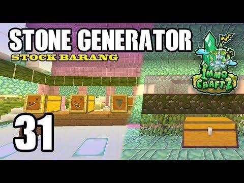 IMMOCRAFT S2  EPS 31  STONE GENERATOR DAN STOCK SHOP BARU  Minecraft Indonesia