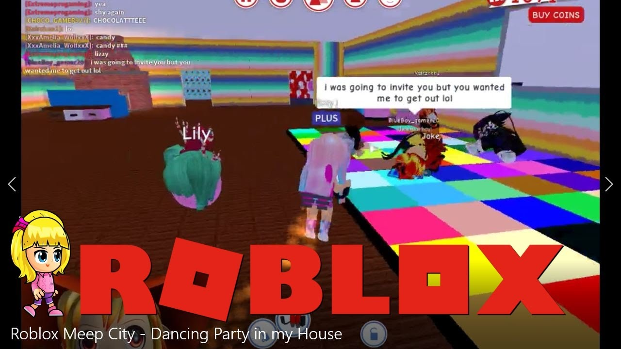 Roblox Meep City Dance Party In My House Youtube