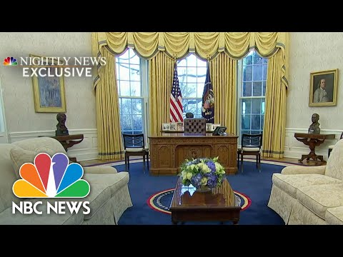 Inside President Biden's Revamped Oval Office | NBC Nightly News