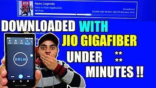 Apex Legends Download with Jio Gigafiber on PS4 | 1 Gbps Speedtest | HINDI |