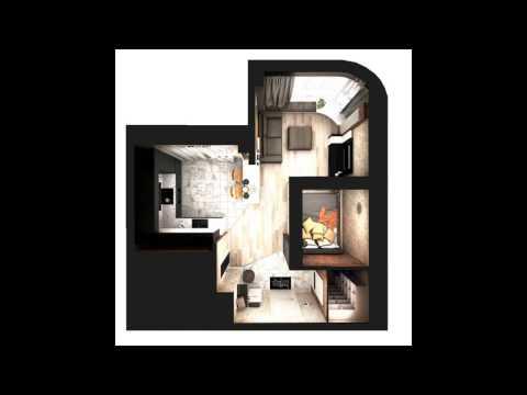 Дизайн проекты квартир студий от 20 до 30 кв.м.