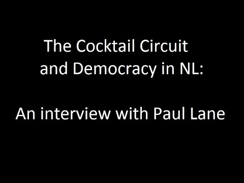 The cocktail circuit and democracy in NL: An interview with Paul Lane