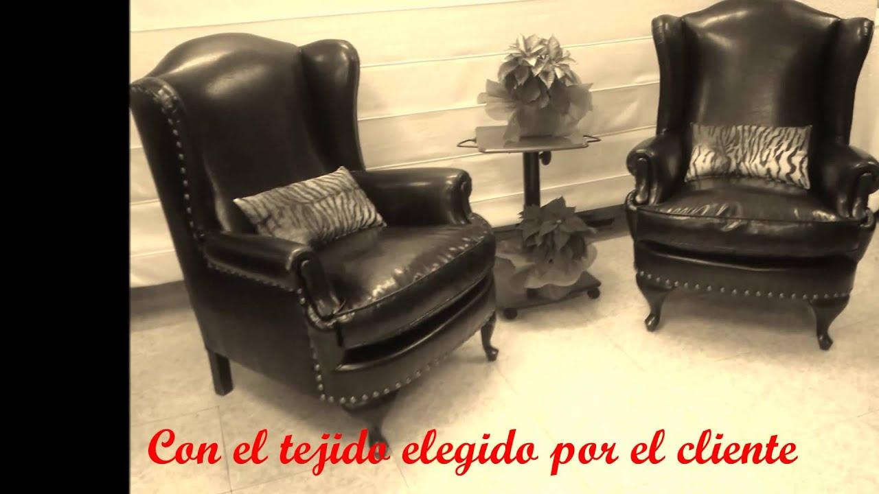 Tapizar sillones orejeros youtube - Tapizar sillon precio ...