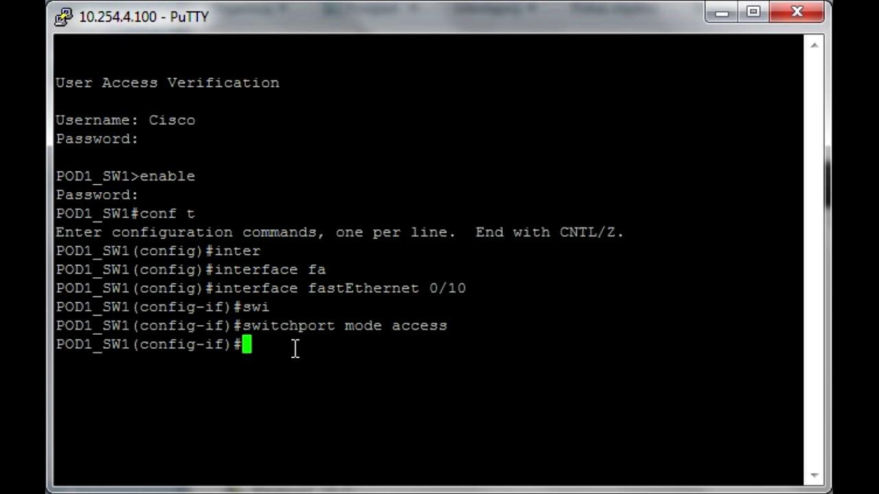 Access port configuration (Cisco) - Grandmetric