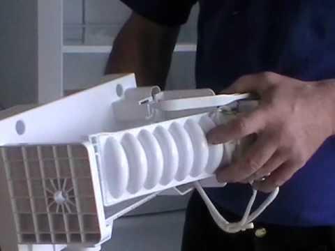 Samsung american fridge freezer RSH1 icemaker removal and