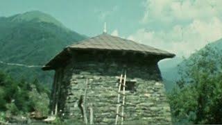 Грузия. Гудани. Экспериментальная застройка древних сёл 2.08.1980