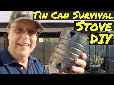 DIY - Tin Can Survival Cook Stove