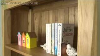 Andorra Solid Oak Tall Bookcase From Oak Furniture Land