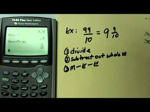 How To Change An Improper Fraction Into A Mixed Number Using The ...