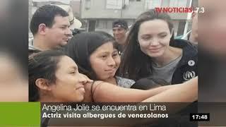 Actriz Angelina Jolie visita a refugiados venezolanos en Lima