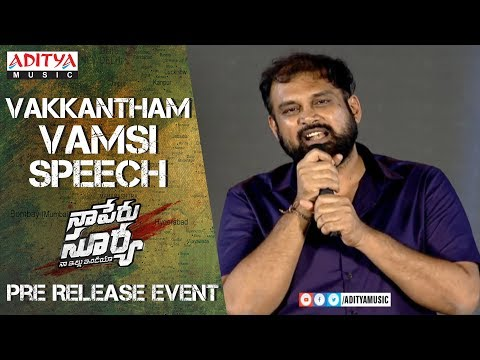 Director Vakkantham Vamsi Speech @  Naa...