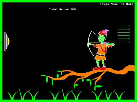 My 2nd year Mini-project, an Archery game designed in Turbo C compiler