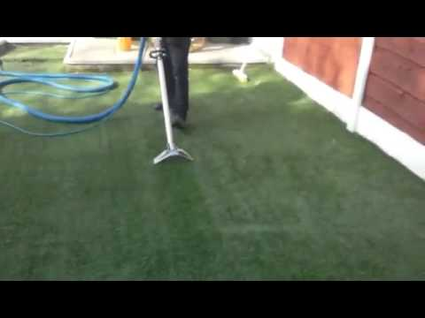 Artificial grass cleaning and sanitizing.