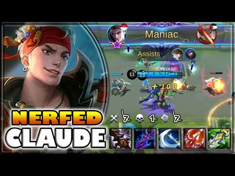 FARM / PUSH / KILL [by ᴋᴇᴇɴᴢ✓] CLAUDE BUILD & GAMEPLAY ~ TOP 2 GLOBAL ~ MOBILE LEGENDS