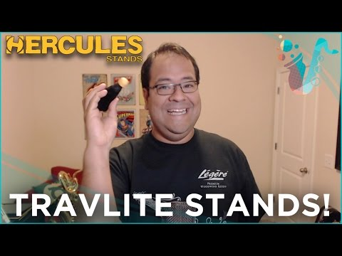 HAVE A GANDER! - Hercules TravLite Stands for Clarinet, Trumpet, and Trombone