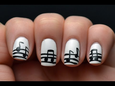 Music Note Nail Art