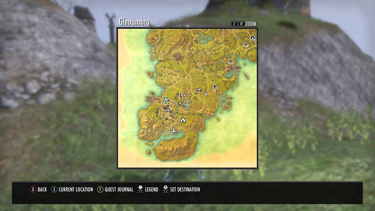Elder Scrolls ONLINE Glenumbra Treasure Map Reward Location - YouTube