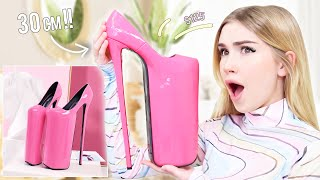 Trying MORE Crazy High Heels !! *I really might break a leg*