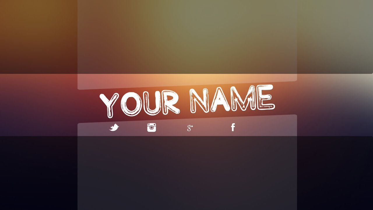 free youtube banner template psd new 2014 direct download
