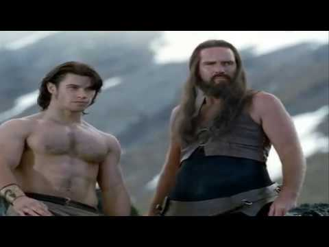Paul Telfer and horse in Hercules