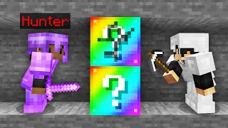 Minecraft Manhunt but the ores are OP Lucky Blocks..